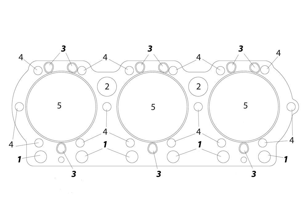 Прокладка гбц ямз-236 нового образца